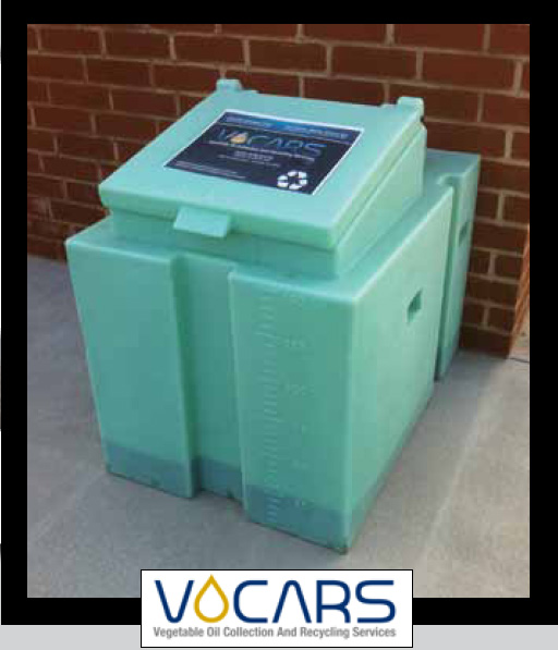VOCARS used vegetable oil collection and recycling container