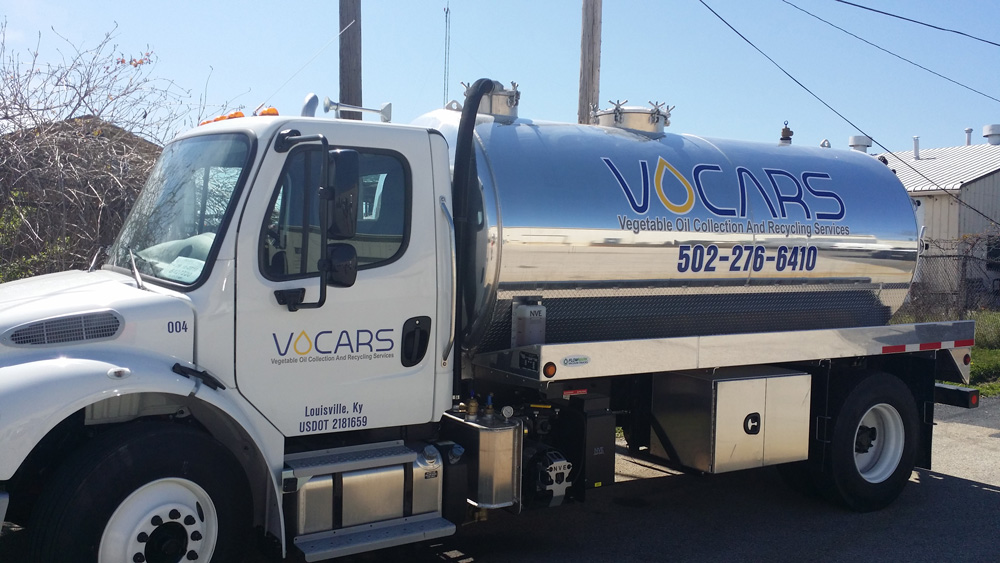 VOCARS used vegetable oil collection and recycling truck